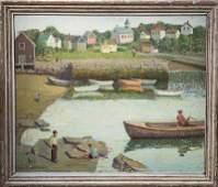 "Emma Fordyce MacRae, ""Boys on Harbour Rock - Cape Ann"""
