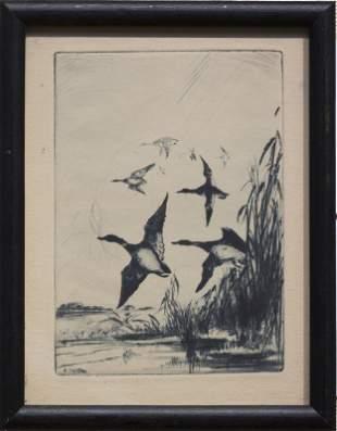 """Anthony Thieme , """" Birds in Flight (vertical)"""""""