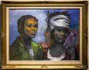 """Lou Burnett , """" Haitians (1985)"""""""