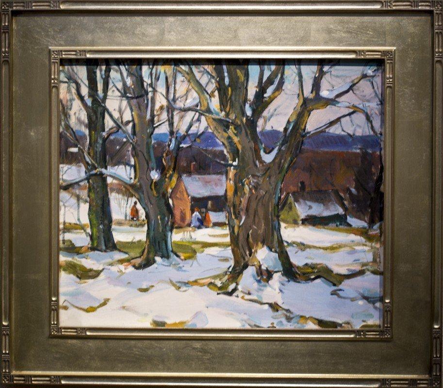 """Carl W.   Peters ,  """" Winter Scene  """""""