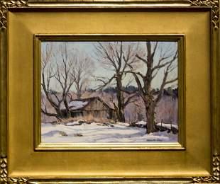 "Bernard Corey , "" The Barn at South Grafton, MA"""