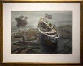 """Larry Webster , """" Boats At Low Tide"""""""