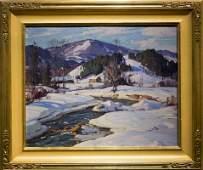 "Aldro T.  Hibbard ,  "" Vermont Snow Scene"""