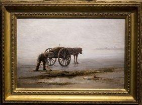 "Nathaniel L. Berry , "" Gathering Seaweed, Lynn Beach"