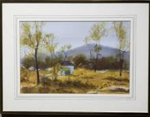 Carl    Gustafson    Landscape with Cottage