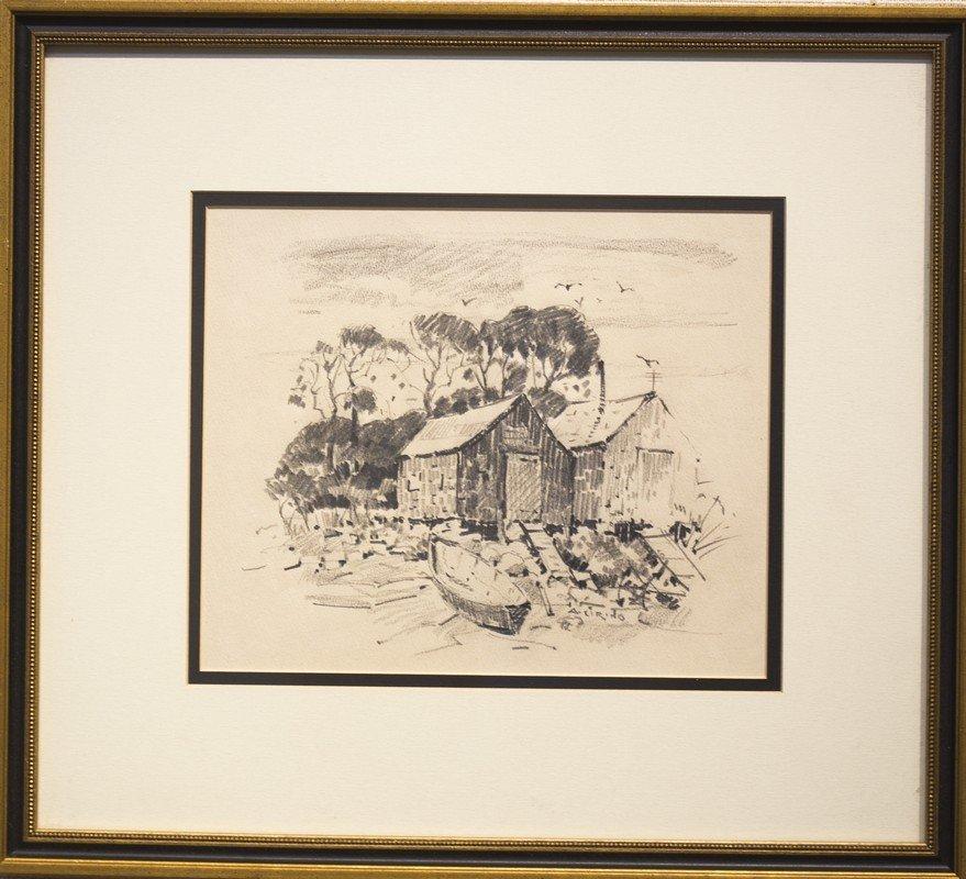 "Antonio  Cirino ,  "" Fishing Shacks"""