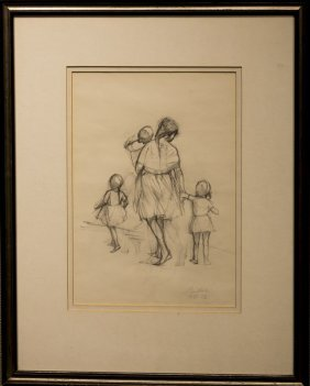 "Nicholas Scalise , "" Woman And Children (1972 Draft"