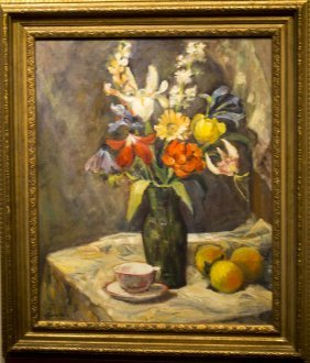 "Lucian Geraci , "" Floral Still Life"""