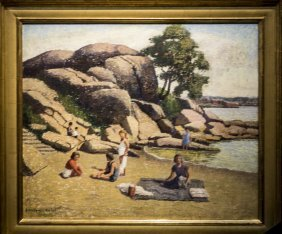 "Emma Fordyce Macrae , "" Picnic On Half Moon Beach,"
