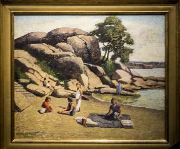 """Emma Fordyce  MacRae ,  """" Picnic on Half Moon Beach,"""