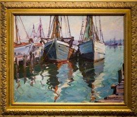 """Carl Gustafson , """" Gloucester Boats (1975)"""""""