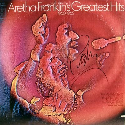 2: Aretha Franklin Signed Greatest Hits LP