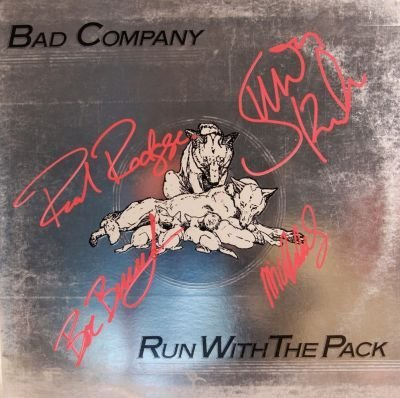 3: Bad Company Signed Run With The Pack LP