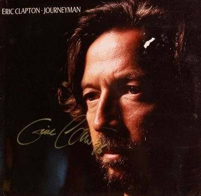 6: Eric Clapton Signed Journeyman LP