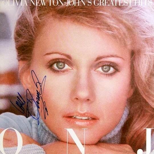 8: Olivia Newton John Signed Greatest Hits LP
