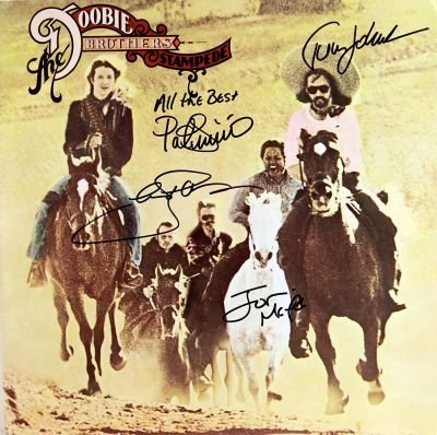 13: The Doobie Brothers Signed Stampede LP
