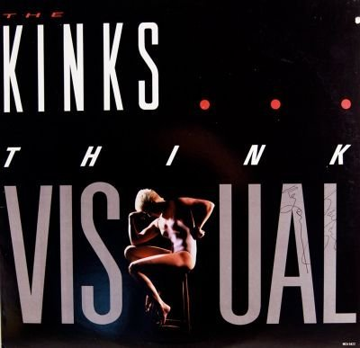 14: The Kinks Signed Think Visual LP
