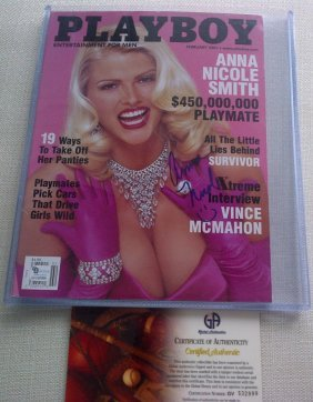 Anna Nicole Smith Signed (1967-2007) Feb 2001 Playb
