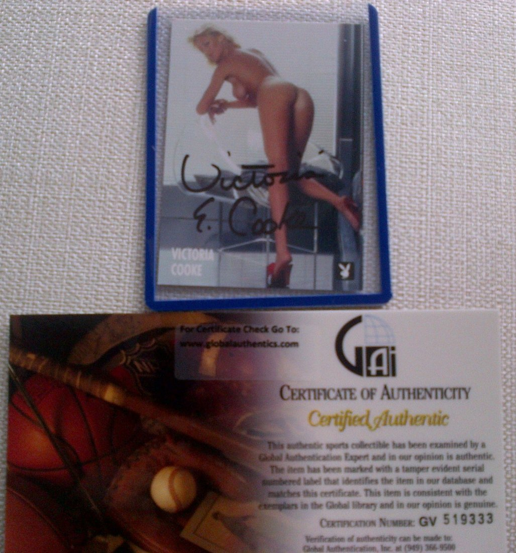 56: Playmate Victoria Cooke Signed Playboy Trading Card