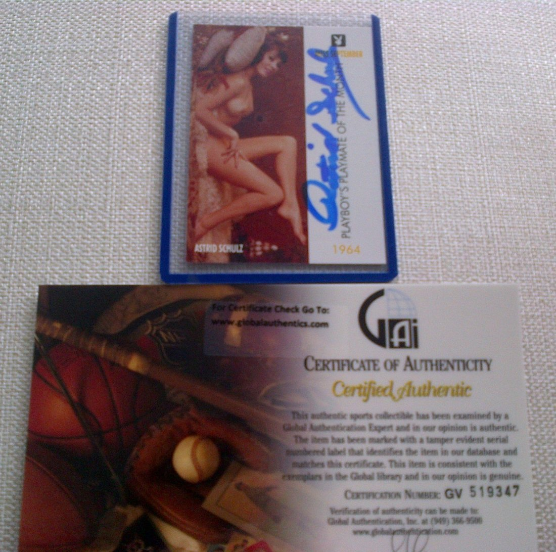 57: Playmate Astrid Schulz Signed Playboy Trading Card