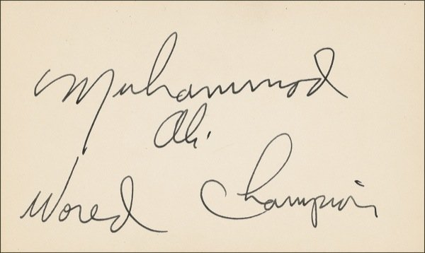 71: Muhammad Ali Signed World Champion Card