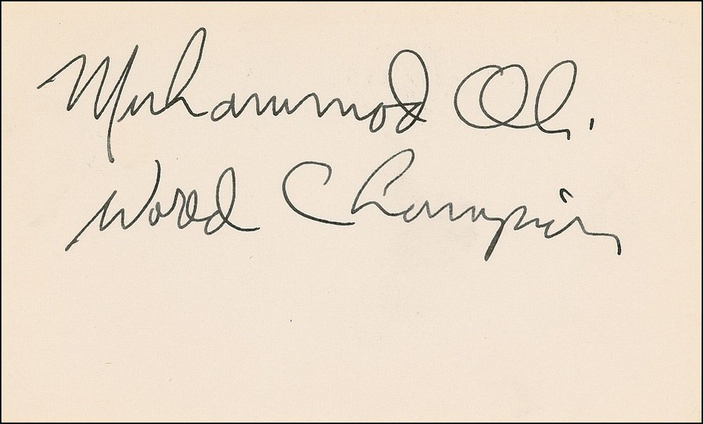 72: Muhammad Ali Signed World Champion Card #2