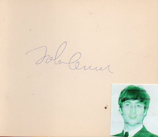 78: John Lennon The Beatles Stunning Signed Card