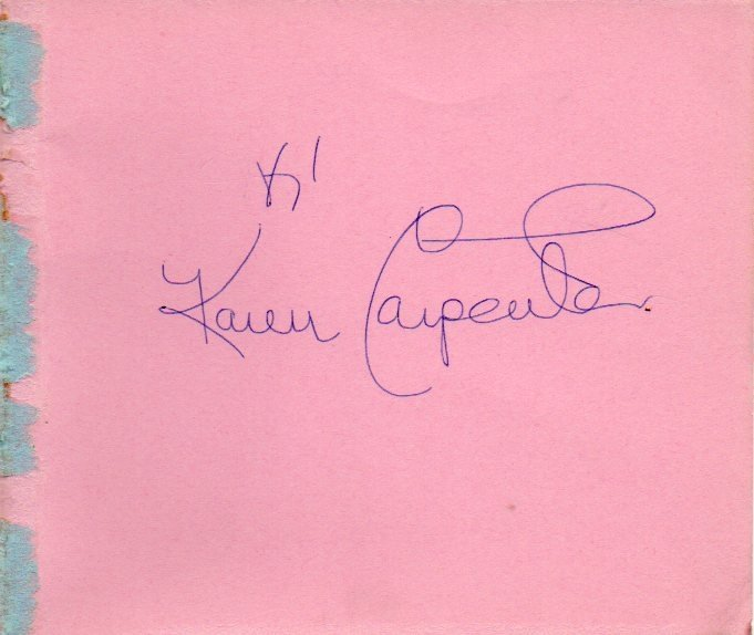 79: Karen Carpenter Signed Album Page