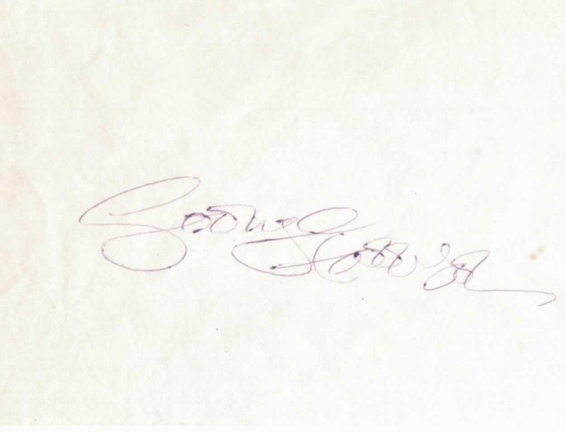 140: George Harrison Signed Vintage Paper COA