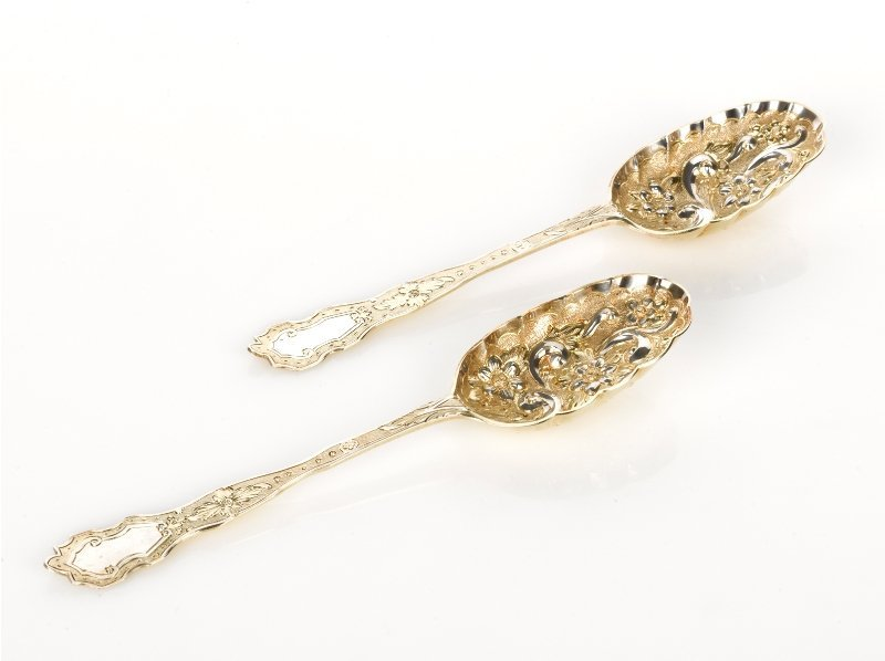 4: Pair of Silver Berry Spoons