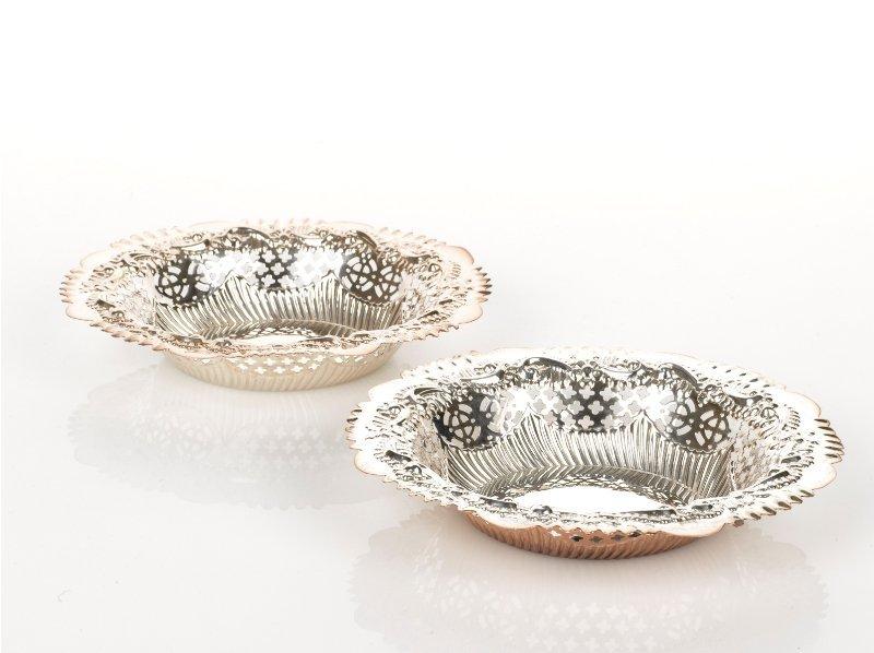 5: Pair of Silver Openwork Bon Bon Dishes