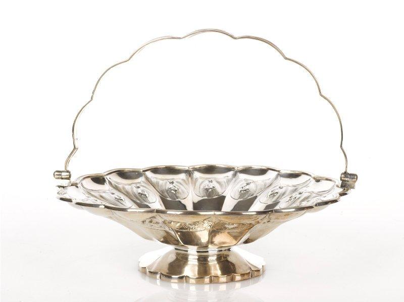 8: Paul Storr Swing Handled Silver Cake Basket