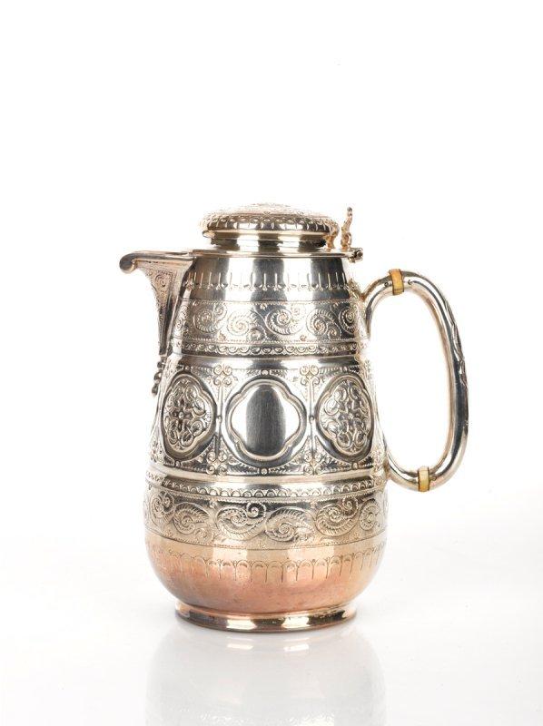 9: Victorian Silver Hot Water Jug