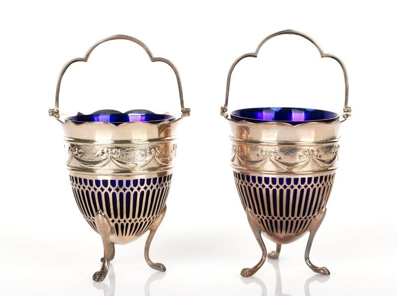 14: Pair of Victorian Silver Sugar Baskets