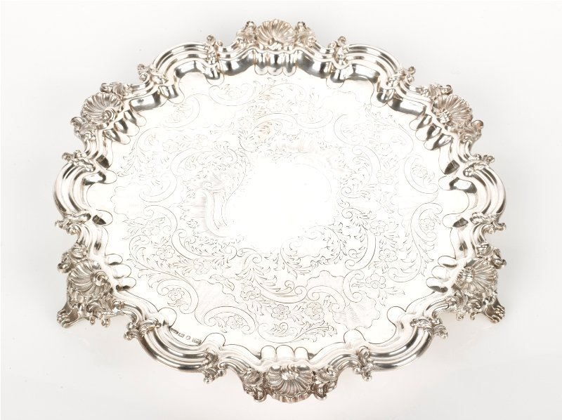 17: Electroplated Salver c. 1880