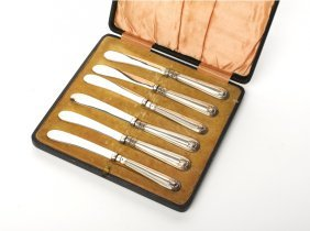 Six Plated Butter Knives