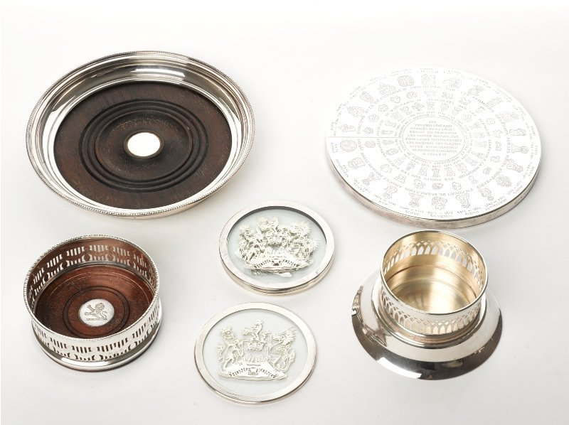 128: Collection of Plated Coasters
