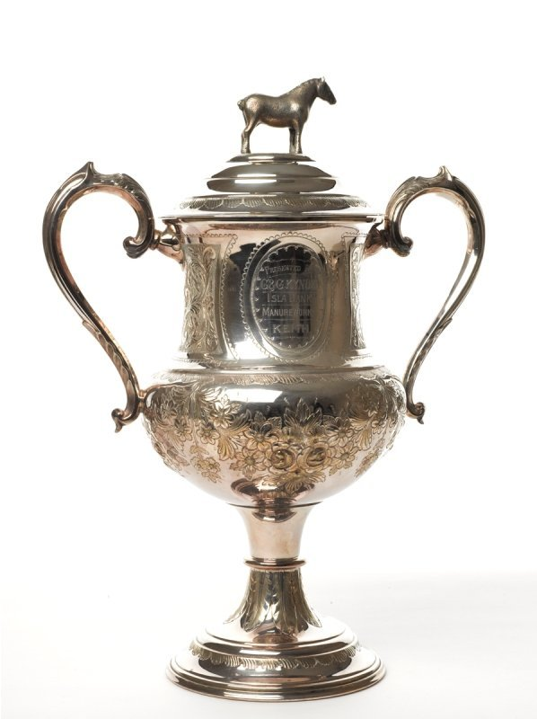 131: The Manure Works Cup Plated Horse Trop