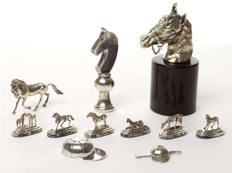 133: Collection of Horse Racing Ornaments