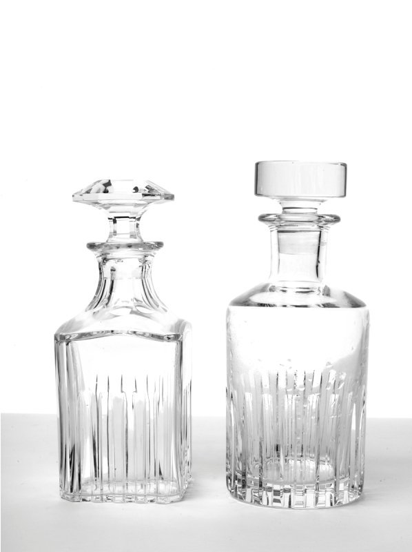 145: Two Cut Glass Decanters