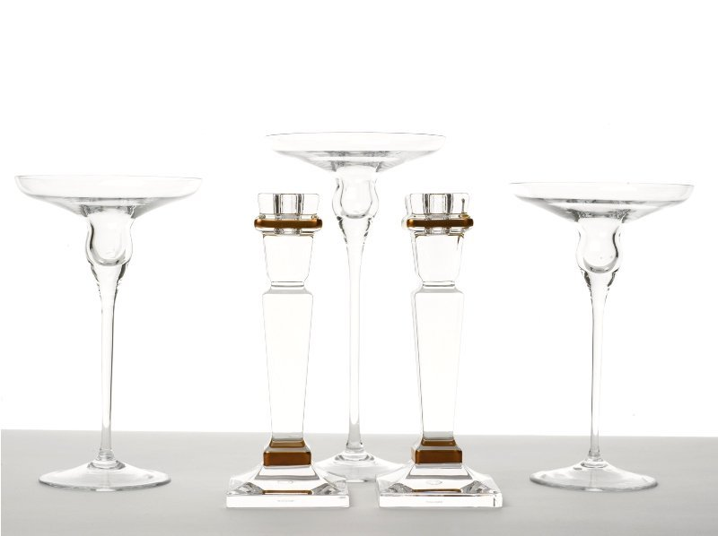 149: Collection of Crystal Candle Holders