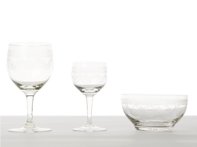 155: Partial Suite of Engraved Crystal Stemware