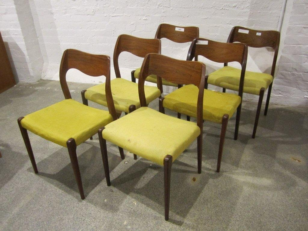 9: Niels Otto Møller Six #71 Dining Chairs