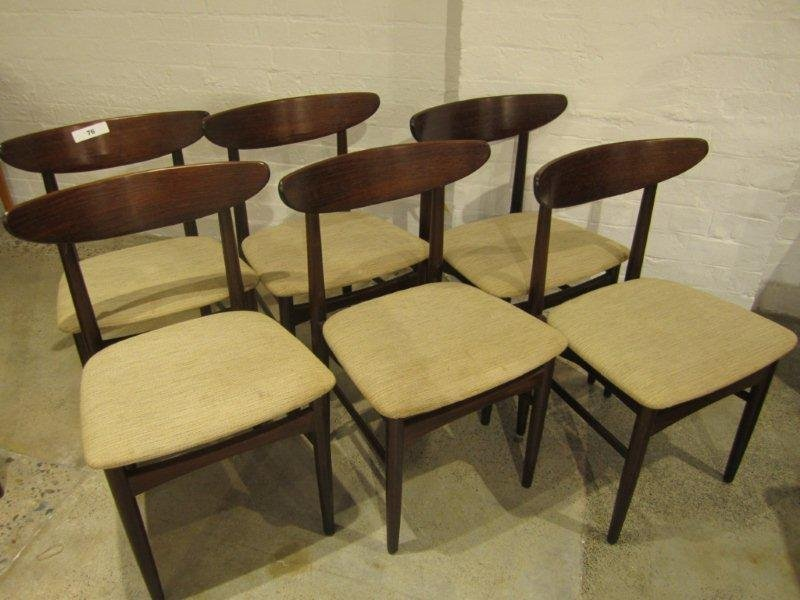 14A: Six Palisander Brazilian Rosewood Dining Chairs
