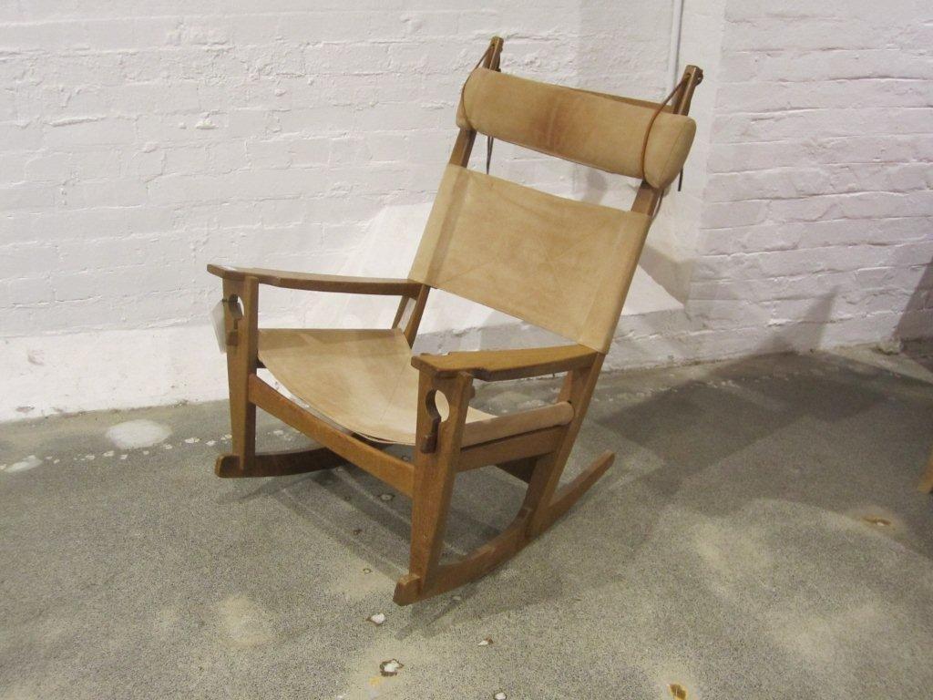90: Hans Wegner Key-Hole Oak Rocking Chair
