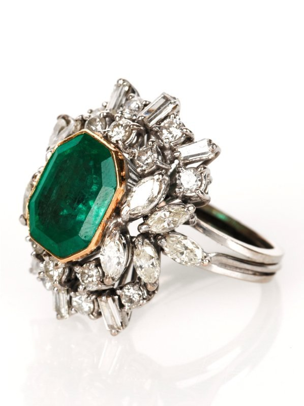 11: Emerald and Diamond Ring