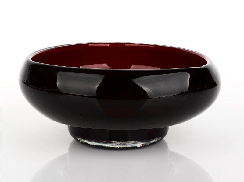 355: Black Cased Glass Vase