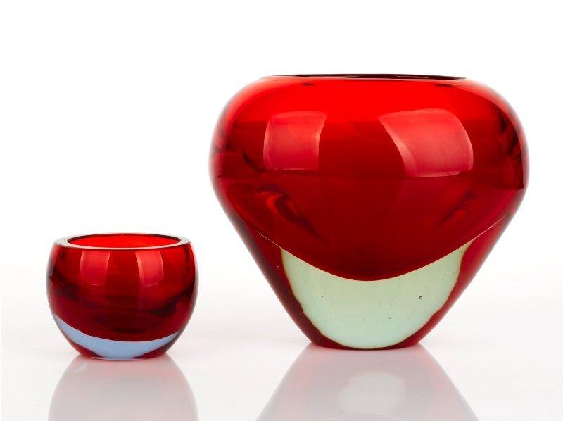 356: Murano Glass Vase and Bowl