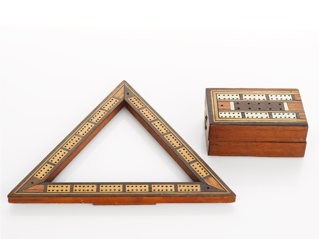 1: Two Cribbage Boards