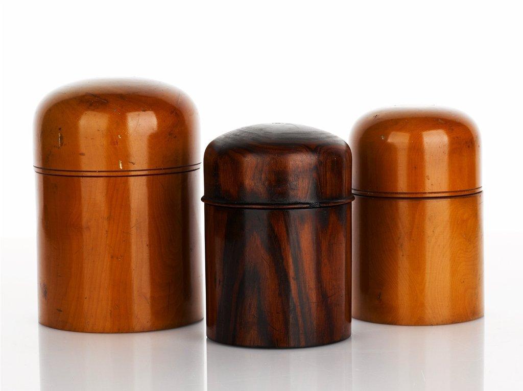 2: Three Treen Bottle Holders